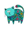 cute cat in decorative style vector image