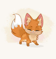 cute little fox vector image