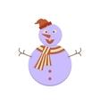 Cute Snowman icon vector image