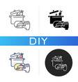 diy cooking black glyph icon vector image vector image