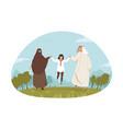 family love fatherhood motherhood recreation vector image