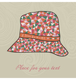 fashion hat made of triangles fabric I love summer vector image