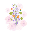 Field flowers watercolor vector image vector image