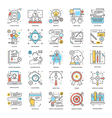 Flat Color Line Icons 7 vector image vector image