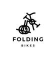 folding bike logo icon vector image