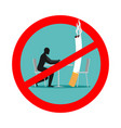 forbidden to smoke in cafes ban smoking red sign vector image vector image
