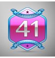 Forty one years anniversary celebration silver vector image vector image