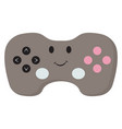 gamepad with eyes on white background vector image vector image