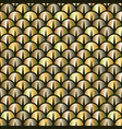 golden snake or fish scale seamless pattern vector image vector image