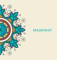 gometric majapahit motif vector image vector image