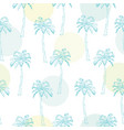 green palm leaves on the pink background seamless vector image vector image