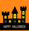 happy halloween haunted house dark black castle vector image vector image
