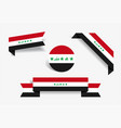 iraqi flag stickers and labels vector image