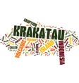 krakatau indonesia text background word cloud vector image vector image
