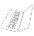 laptop outline computer vector image vector image