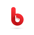 Letter B hand logo icon design template elements vector image