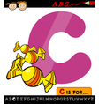 letter c with candy cartoon vector image vector image