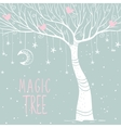 magic tree night vector image vector image