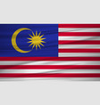 malaysia flag flag of malaysia blowig in the vector image