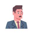 male shocked emotion icon isolated avatar man vector image