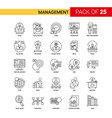 management black line icon - 25 business outline vector image