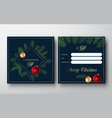 merry christmas abstract greeting gift card vector image vector image