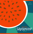 national watermelon day - square creative banner vector image