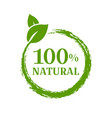 natural product isolated vector image vector image