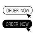order now button on white background now vector image vector image