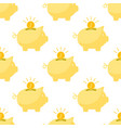 piggy bank and coins in white background vector image vector image