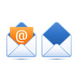 Pixel perfect email icons vector image