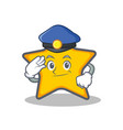 police star character cartoon style vector image vector image