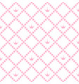 princess background pattern with pink crown stock vector image vector image
