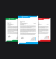 professional letterhead template standard a4 size vector image vector image