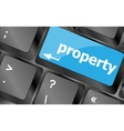 property message on keyboard enter key Keyboard vector image vector image