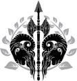 Ram axe with laurel wreath vector image