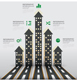 Real Estate And Property Business Infographic With vector image vector image