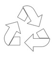 recycling arrows in a circle the black color icon vector image vector image