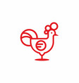 red chicken logo vector image