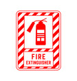 red sign fire extinguisher for public places vector image