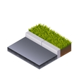 Road and Grass Isometric vector image vector image