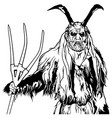 satan standing and holding a pitchfork vector image vector image
