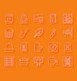 sauna equipment simple paper cut icons set vector image vector image