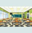 school classroom interior vector image vector image