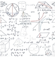 Seamless pattern of the formulas on the geometry vector image vector image