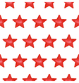 Seamless pattern with red stars vector image vector image