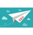 Seo - serach engine optimization plane vector image