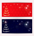 set of christmas or new year horizontal banners vector image vector image