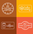 set of linear labels vector image