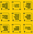 Set of motivational quotes about responsibility vector image vector image
